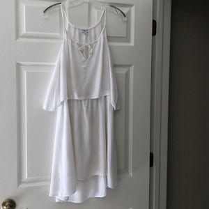 Splendid white gauze high low dress